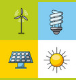 icons set energy vector image