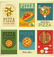 italian pizza posters set vector image vector image