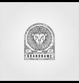 line art lion logo vintage design lion animal vector image vector image