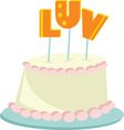 luv cake vector image vector image