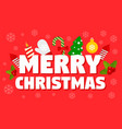 merry christmas time concept banner flat style vector image