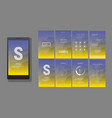 modern ui gui screen design vector image vector image
