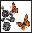 monarch butterflies vector image vector image