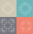 Monogram Collection vector image vector image