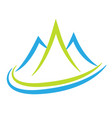 mountain terrain and landscape icon vector image vector image
