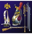 Napoleonic cuirassiers armament vector image vector image