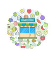 organic food shop vector image vector image