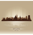 Ottawa Ontario skyline city silhouette vector image vector image