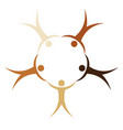 people different races in a circle holding hands vector image