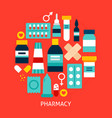 pharmacy flat concept vector image