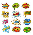 pop art comic bubbles cartoon speech popart vector image