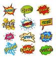 Pop art comic bubbles cartoon speech popart vector image