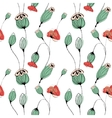 Poppy capsule seamless pattern vector image