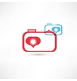 Red and blue nice cameras icon vector image vector image