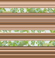 seamless horizontal lines pattern brown vector image vector image