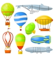 Set air balloons and airships vector image vector image