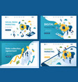 set design web page templates business marketing vector image