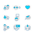 set icon social networks in thin line style vector image vector image