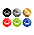simple crown round icons vector image vector image