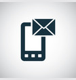 smartphone mail icon simple concept symbol design vector image
