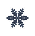 snowflake icon black silhouette snow flake sign vector image vector image