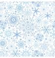 Snowflake seamless patternlaceWinterChristmas vector image vector image