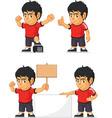 soccer boy customizable mascot 18 vector image vector image