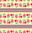 strawberry cherry background vector image