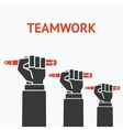 teamwork concept symbol office workers hand with vector image vector image