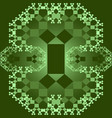 tile set with square patterns in fractal style vector image