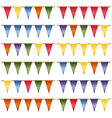 triangle bunting vector image