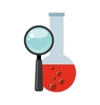 tube test laboratory experiment icon vector image vector image