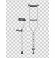 two walking sticks for handicaped vector image vector image