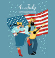 usa independence day greeting card vector image vector image