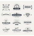 vintage design elements retro style typography vector image