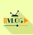vlog cast logo flat style vector image vector image
