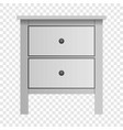 white double drawer mockup realistic style vector image vector image