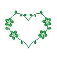 White Jasmine Flowers in Lovely Heart Shape vector image vector image