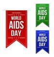 world aids day banner design set vector image
