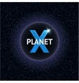 X Planet Design concept vector image vector image