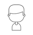 character male profile employee person vector image