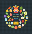 organic healthy food banner vector image