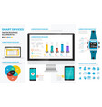smart devices infographic elements vector image