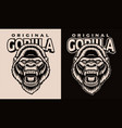 a black and white a gorilla head vector image vector image