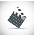 Abstract Cinema Clapper Flat Symbol Icon vector image