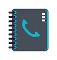 address book with telephone vector image vector image