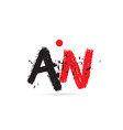 alphabet letter combination an a n with grunge vector image vector image
