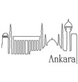 ankara city one line drawing background vector image vector image
