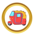 Auto rickshaw icon vector image vector image