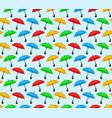 background with color umbrellas vector image